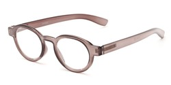 Angle of The Myrtle in Grey, Women's and Men's Round Reading Glasses