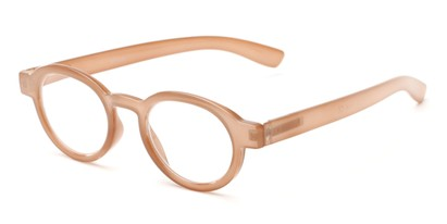 Angle of The Myrtle in Light Brown, Women's and Men's Round Reading Glasses