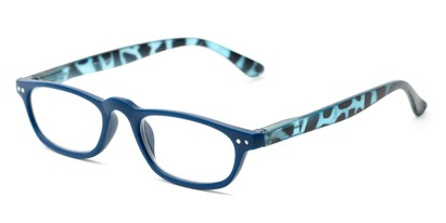Angle of The Sunset in Blue/Tortoise, Women's and Men's Rectangle Reading Glasses