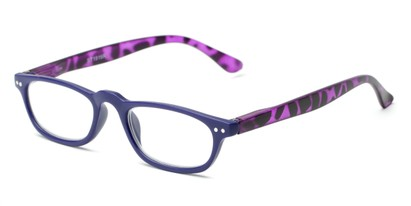 Angle of The Sunset in Purple/Tortoise, Women's and Men's Rectangle Reading Glasses