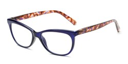 Angle of The Liv in Purple/Tortoise, Women's Cat Eye Reading Glasses