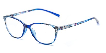 Angle of The Queen in Blue, Women's Cat Eye Reading Glasses