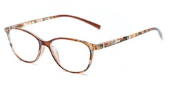 Angle of The Queen in Brown, Women's Cat Eye Reading Glasses