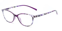 Angle of The Queen in Purple, Women's Cat Eye Reading Glasses