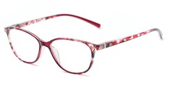 Angle of The Queen in Red, Women's Cat Eye Reading Glasses