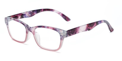 Angle of The Nala in Purple Fade, Women's Retro Square Reading Glasses
