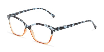 Angle of The Kit in Blue Tortoise/Orange, Women's Cat Eye Reading Glasses