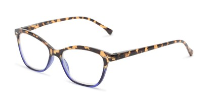 Angle of The Kit in Brown Tortoise/Dark Blue, Women's Cat Eye Reading Glasses