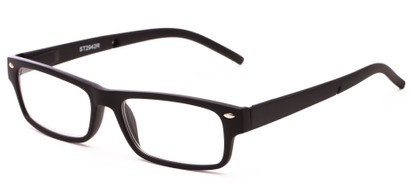 Angle of The Anchor Detachable Neck Cord Reader in Black, Women's and Men's Rectangle Reading Glasses