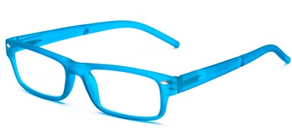 Angle of The Anchor Detachable Neck Cord Reader in Blue, Women's and Men's Rectangle Reading Glasses