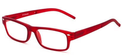 Angle of The Anchor Detachable Neck Cord Reader in Red, Women's and Men's Rectangle Reading Glasses