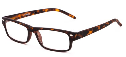Angle of The Anchor Detachable Neck Cord Reader in Tortoise, Women's and Men's Rectangle Reading Glasses