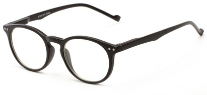 Angle of The Costello Unmagnified Computer Glasses in Black, Women's and Men's Round Reading Glasses
