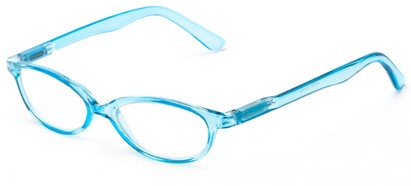 Angle of The Pandora in Blue, Women's Oval Reading Glasses