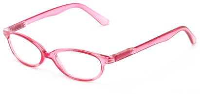 Angle of The Pandora in Pink, Women's Oval Reading Glasses