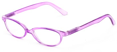 Angle of The Pandora in Purple, Women's Oval Reading Glasses