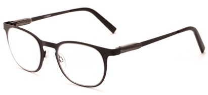Angle of The Meadow in Black, Women's and Men's Round Reading Glasses