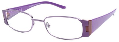 Angle of The Capri in Purple and Red, Women's Rectangle Reading Glasses