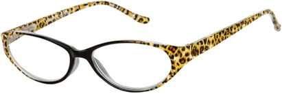 Angle of The Celia in Black/Brown Leopard, Women's Cat Eye Reading Glasses