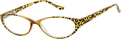Angle of The Celia in Tan Leopard, Women's Cat Eye Reading Glasses