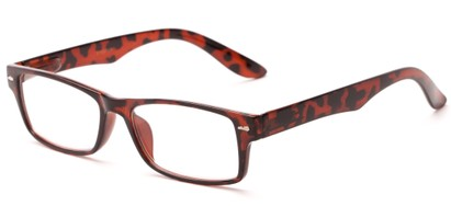 Angle of The Apollo in Glossy Tortoise, Women's and Men's Rectangle Reading Glasses