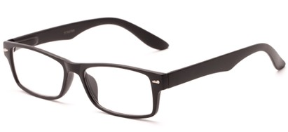 Angle of The Apollo in Matte Black, Women's and Men's Rectangle Reading Glasses