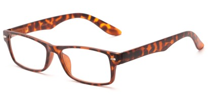 Angle of The Apollo in Matte Tortoise, Women's and Men's Rectangle Reading Glasses