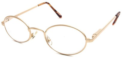 Angle of The Lafayette in Glossy Gold Frame, Women's and Men's