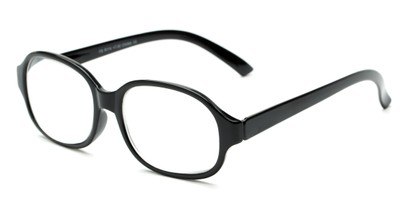 Angle of The Salem in Black, Women's and Men's Square Reading Glasses