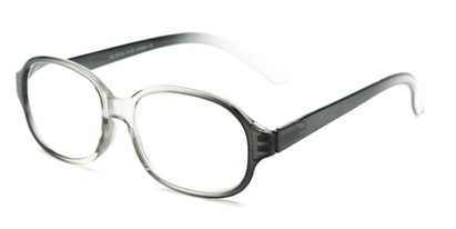 Angle of The Salem in Black/Clear Fade, Women's and Men's Square Reading Glasses