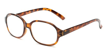 Angle of The Salem in Tortoise, Women's and Men's Square Reading Glasses