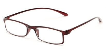 Angle of The Sawyer in Brown, Women's and Men's Rectangle Reading Glasses