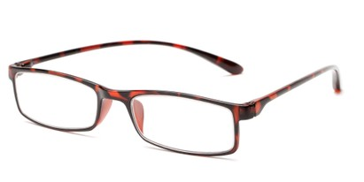 Angle of The Sawyer in Brown Tortoise, Women's and Men's Rectangle Reading Glasses