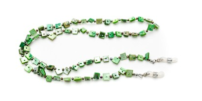 Angle of Seashell Reading Glasses Chain in Green, Women's  Neck Cords