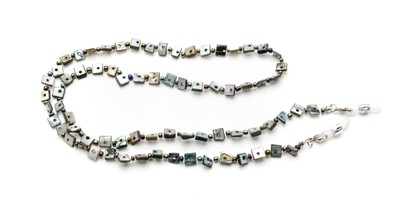 Angle of Seashell Reading Glasses Chain in Grey, Women's  Neck Cords