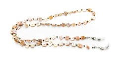 Angle of Seashell Reading Glasses Chain in Brown, Women's  Neck Cords