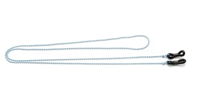 Angle of Seattle Reading Glasses Chain in Light Blue, Women's  Neck Cords