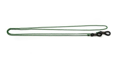 Angle of Seattle Reading Glasses Chain in Dark Green, Women's  Neck Cords