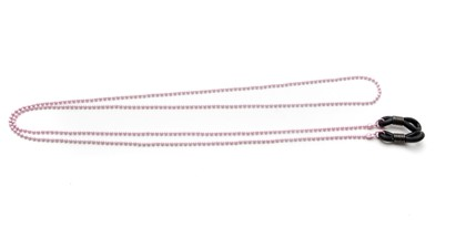 Angle of Seattle Reading Glasses Chain in Light Pink, Women's  Neck Cords
