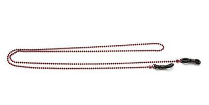 Angle of Seattle Reading Glasses Chain in Dark Red, Women's  Neck Cords