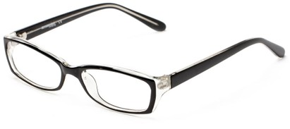 Angle of The Uptown Customizable Reader in Black, Women's and Men's Retro Square Reading Glasses