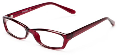 Angle of The Uptown Customizable Reader in Burgundy Red, Women's and Men's Retro Square Reading Glasses