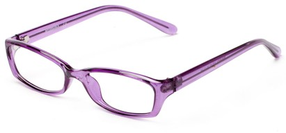 Angle of The Uptown Customizable Reader in Violet Purple, Women's and Men's Retro Square Reading Glasses