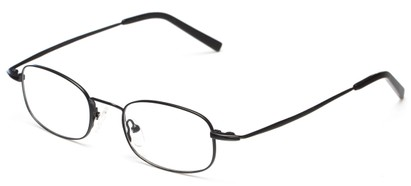 Angle of The Sheldon Customizable Reader in Black, Women's and Men's Rectangle Reading Glasses