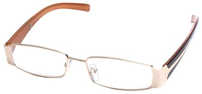 Angle of The Key Largo in Gold and Brown Frame, Women's and Men's
