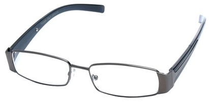 Angle of The Key Largo in Grey and Black Frame, Women's and Men's