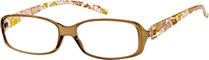Angle of The Kendra Flexible Reader in Yellow, Women's Rectangle Reading Glasses