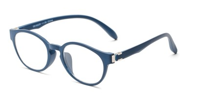Angle of The Graduate in Blue, Women's and Men's Round Reading Glasses