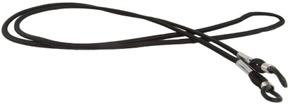 Angle of Black Readers Neck Cord in Black, Women's and Men's