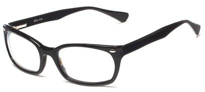 Angle of Talbott by felix + iris in Black, Women's and Men's Square Reading Glasses